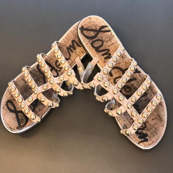cc3877013ac Sam Edelman Glenn studded slide sandal sz 9. M 5c5ca4ddaaa5b8d77000de61